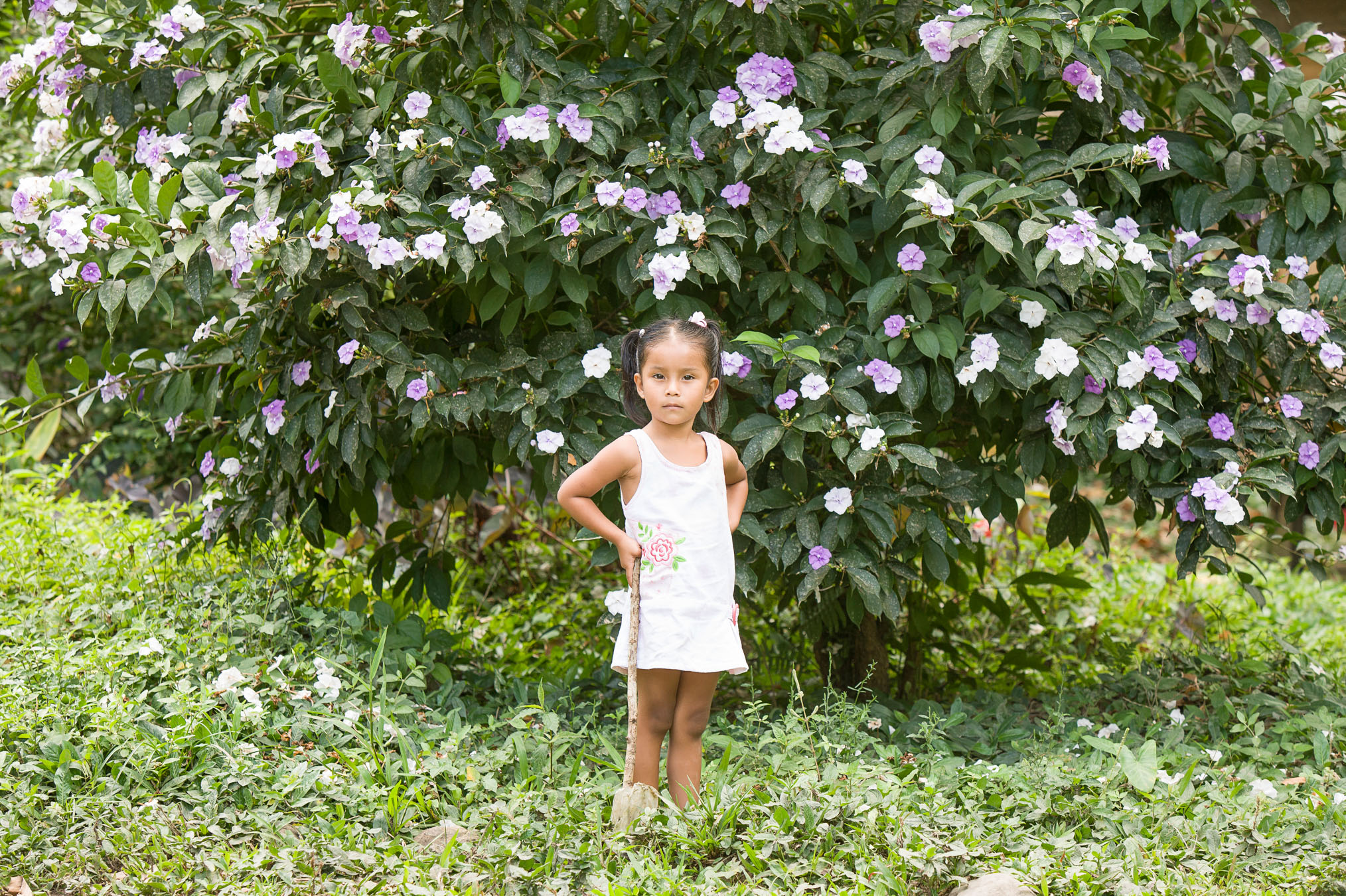 Girl besides flowers, Environmental tax to maintain forests in Costa Rica - If Not Us Then Who?