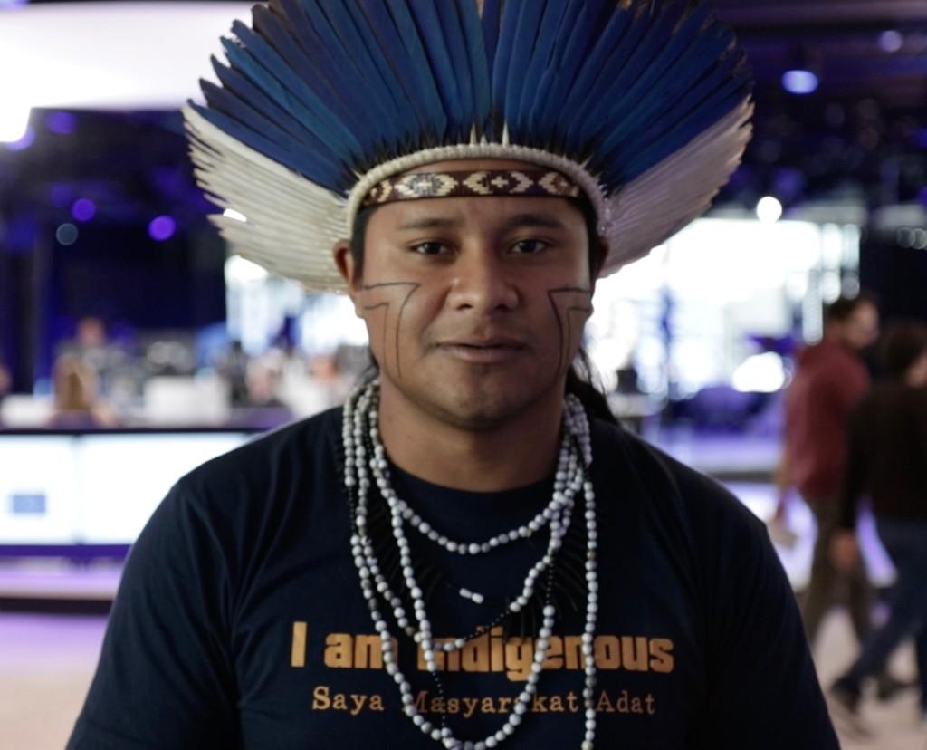 David Karai Popygua Guarani - indigenous leader Sao Paulo